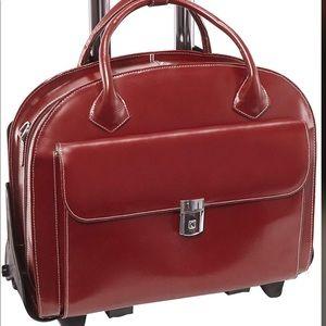 Red roller bag